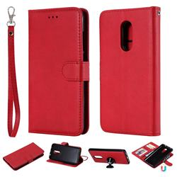 Retro Greek Detachable Magnetic PU Leather Wallet Phone Case for Xiaomi Redmi Note 4X - Red