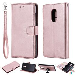 Retro Greek Detachable Magnetic PU Leather Wallet Phone Case for Xiaomi Redmi Note 4X - Rose Gold