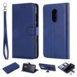 Retro Greek Detachable Magnetic PU Leather Wallet Phone Case for Xiaomi Redmi Note 4X - Blue