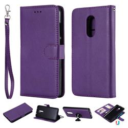 Retro Greek Detachable Magnetic PU Leather Wallet Phone Case for Xiaomi Redmi Note 4X - Purple