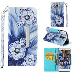 Button Flower Big Metal Buckle PU Leather Wallet Phone Case for Xiaomi Redmi Note 4X
