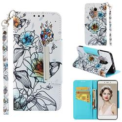 Fotus Flower Big Metal Buckle PU Leather Wallet Phone Case for Xiaomi Redmi Note 4X