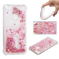 Dynamic Liquid Glitter Sand Quicksand Star TPU Case for Xiaomi Redmi Note 5A - Diamond Rose