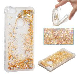Dynamic Liquid Glitter Sand Quicksand Star TPU Case for Xiaomi Redmi Note 5A - Diamond Gold