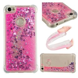 Dynamic Liquid Glitter Sand Quicksand TPU Case for Xiaomi Redmi Note 5A - Pink Love Heart
