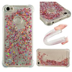 Dynamic Liquid Glitter Sand Quicksand TPU Case for Xiaomi Redmi Note 5A - Rose Gold Love Heart