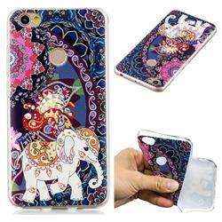 Totem Flower Elephant Super Clear Soft TPU Back Cover for Xiaomi Redmi Note 5A