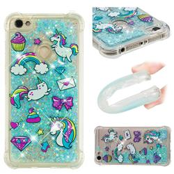 Fashion Unicorn Dynamic Liquid Glitter Sand Quicksand Star TPU Case for Xiaomi Redmi Note 5A