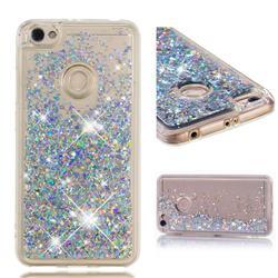 Dynamic Liquid Glitter Quicksand Sequins TPU Phone Case for Xiaomi Redmi Note 5A - Silver