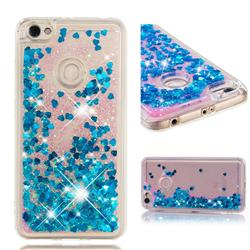 Dynamic Liquid Glitter Quicksand Sequins TPU Phone Case for Xiaomi Redmi Note 5A - Blue
