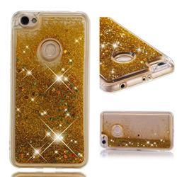 Dynamic Liquid Glitter Quicksand Sequins TPU Phone Case for Xiaomi Redmi Note 5A - Golden