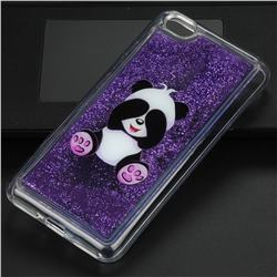 Naughty Panda Glassy Glitter Quicksand Dynamic Liquid Soft Phone Case for Xiaomi Redmi Note 5A