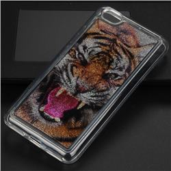 Tiger Glassy Glitter Quicksand Dynamic Liquid Soft Phone Case for Xiaomi Redmi Note 5A