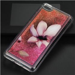 Lotus Glassy Glitter Quicksand Dynamic Liquid Soft Phone Case for Xiaomi Redmi Note 5A