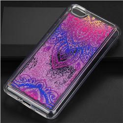 Blue and White Glassy Glitter Quicksand Dynamic Liquid Soft Phone Case for Xiaomi Redmi Note 5A