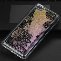 Diagonal Lace Glassy Glitter Quicksand Dynamic Liquid Soft Phone Case for Xiaomi Redmi Note 5A