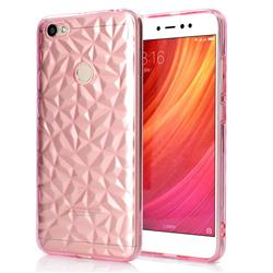 Diamond Pattern Shining Soft TPU Phone Back Cover for Xiaomi Redmi Note 5A - Pink