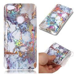 Gold Plating Marble Pattern Bright Color Laser Soft TPU Case for Xiaomi Redmi Note 5A