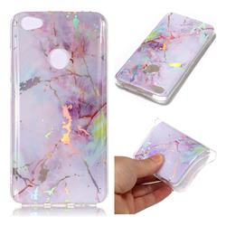 Pink Purple Marble Pattern Bright Color Laser Soft TPU Case for Xiaomi Redmi Note 5A
