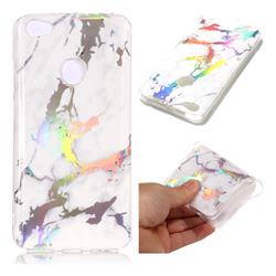 White Marble Pattern Bright Color Laser Soft TPU Case for Xiaomi Redmi Note 5A