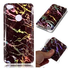 Black Brown Marble Pattern Bright Color Laser Soft TPU Case for Xiaomi Redmi Note 5A