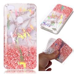 Powder Sandstone Marble Pattern Bright Color Laser Soft TPU Case for Xiaomi Redmi Note 5A