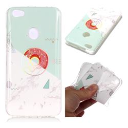 Donuts Marble Pattern Bright Color Laser Soft TPU Case for Xiaomi Redmi Note 5A