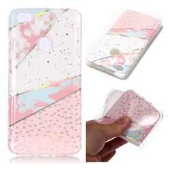 Matching Color Marble Pattern Bright Color Laser Soft TPU Case for Xiaomi Redmi Note 5A