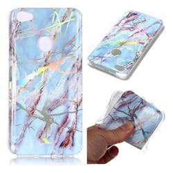 Light Blue Marble Pattern Bright Color Laser Soft TPU Case for Xiaomi Redmi Note 5A
