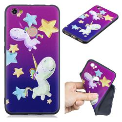 Pony 3D Embossed Relief Black TPU Cell Phone Back Cover for Xiaomi Redmi Note 5A