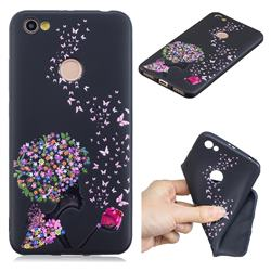 Corolla Girl 3D Embossed Relief Black TPU Cell Phone Back Cover for Xiaomi Redmi Note 5A
