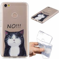 Cat Say No Clear Varnish Soft Phone Back Cover for Xiaomi Redmi Note 5A