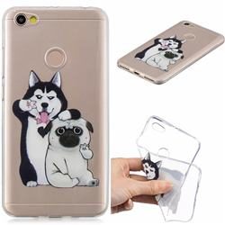 Selfie Dog Clear Varnish Soft Phone Back Cover for Xiaomi Redmi Note 5A