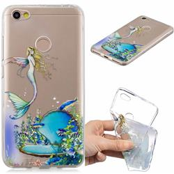 Mermaid Clear Varnish Soft Phone Back Cover for Xiaomi Redmi Note 5A