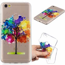 Oil Painting Tree Clear Varnish Soft Phone Back Cover for Xiaomi Redmi Note 5A