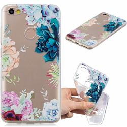 Gem Flower Clear Varnish Soft Phone Back Cover for Xiaomi Redmi Note 5A