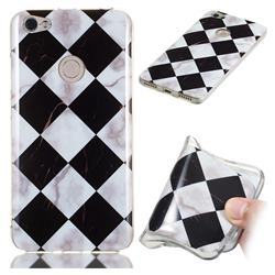 Black and White Matching Soft TPU Marble Pattern Phone Case for Xiaomi Redmi Note 5A