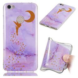 Elf Purple Soft TPU Marble Pattern Phone Case for Xiaomi Redmi Note 5A