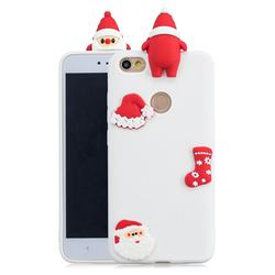 White Santa Claus Christmas Xmax Soft 3D Silicone Case for Xiaomi Redmi Note 5A