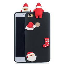 Black Santa Claus Christmas Xmax Soft 3D Silicone Case for Xiaomi Redmi Note 5A