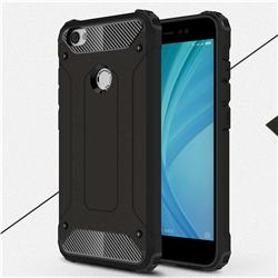 King Kong Armor Premium Shockproof Dual Layer Rugged Hard Cover for Xiaomi Redmi Note 5A - Black Gold