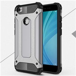 King Kong Armor Premium Shockproof Dual Layer Rugged Hard Cover for Xiaomi Redmi Note 5A - Silver Grey