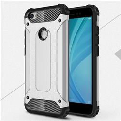 King Kong Armor Premium Shockproof Dual Layer Rugged Hard Cover for Xiaomi Redmi Note 5A - Technology Silver