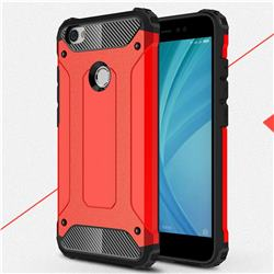 King Kong Armor Premium Shockproof Dual Layer Rugged Hard Cover for Xiaomi Redmi Note 5A - Big Red
