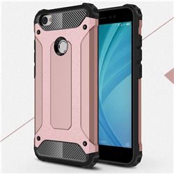 King Kong Armor Premium Shockproof Dual Layer Rugged Hard Cover for Xiaomi Redmi Note 5A - Rose Gold