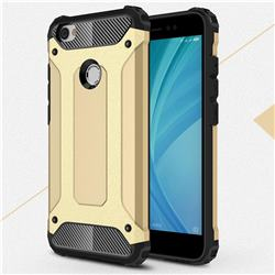 King Kong Armor Premium Shockproof Dual Layer Rugged Hard Cover for Xiaomi Redmi Note 5A - Champagne Gold