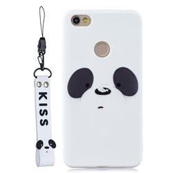 White Feather Panda Soft Kiss Candy Hand Strap Silicone Case for Xiaomi Redmi Note 5A