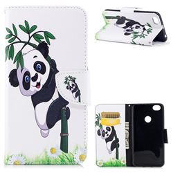 Bamboo Panda Leather Wallet Case for Xiaomi Redmi Note 5A