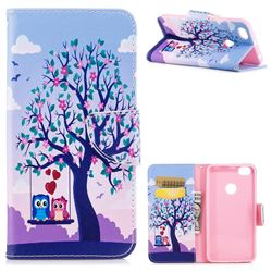 Tree and Owls Leather Wallet Case for Xiaomi Redmi Note 5A