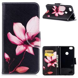 Lotus Flower Leather Wallet Case for Xiaomi Redmi Note 5A